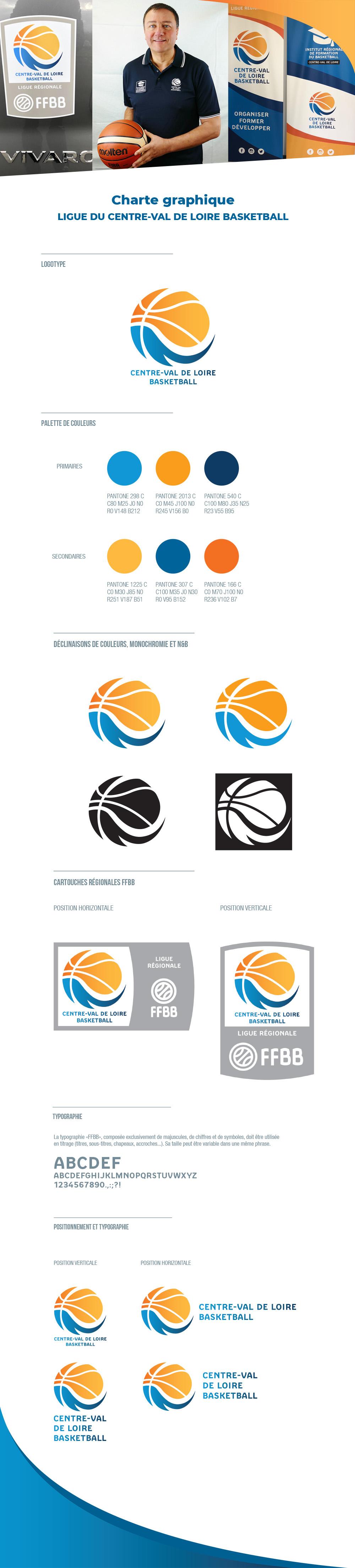 visuel Ligue Centre-Val de Loire de Basketball